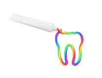 颜色牙膏 免版税库存图片