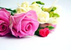 颜色玫瑰花束妈咪或妻子的 库存图片
