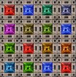 颜色珠宝模式正方形 库存图片