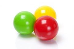 颜色球 免版税库存照片