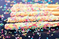 颜色甜点棍子 免版税图库摄影