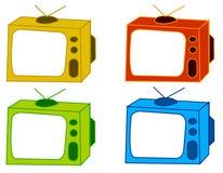 颜色电视 免版税库存图片
