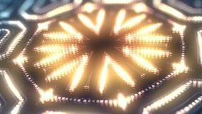 颜色的动画带领了微粒形状 抽象万花筒VJ行动背景 3d翻译 4K,UHD决议 向量例证