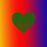 颜色的心脏 皇族释放例证