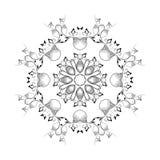 黑颜色的抽象圆样式 免版税图库摄影