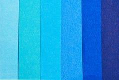 颜色的深度蓝纸颜色 免版税图库摄影