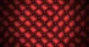 颜色皮革缝制的红色沙发纹理 免版税库存图片