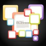 颜色盒抽象背景  免版税库存图片