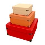 颜色盒 免版税库存图片