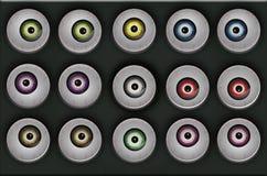 颜色眼睛 免版税库存图片