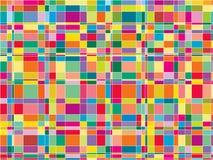 颜色矩阵马赛克正方形 免版税库存图片