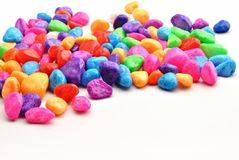 颜色石头 免版税库存图片