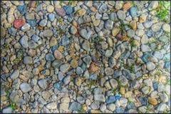 颜色石头 库存照片
