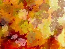 颜色秋天叶子模式藤 免版税库存图片