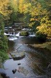 颜色秋天横向风景瀑布 库存照片