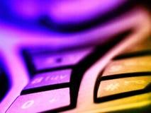颜色移动电话 免版税库存照片