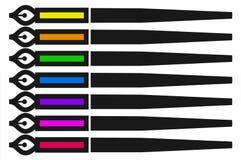颜色笔 库存照片
