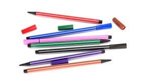 颜色笔 免版税库存照片