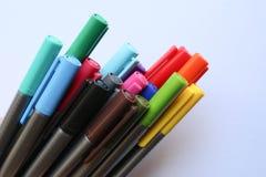 颜色笔 免版税图库摄影