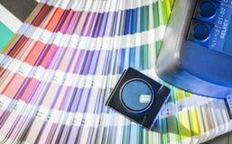 颜色管理在与颜色样片和浓度计的晒印方法中 库存图片