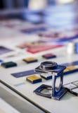 颜色管理在晒印方法中 库存图片