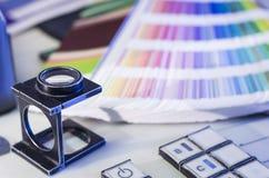颜色管理在晒印方法中 免版税库存照片