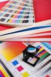 颜色管理集 免版税图库摄影
