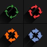 颜色箭头再装,刷新,自转,重复象 免版税库存图片