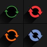 颜色箭头再装,自转,重新设置,重复象 图库摄影