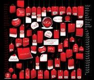 颜色红色销售额标签 免版税图库摄影
