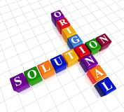 颜色纵横填字谜喜欢原始解决方法 免版税库存图片