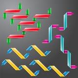 颜色纸丝带的汇集 向量例证