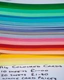 颜色纸叠 免版税库存图片