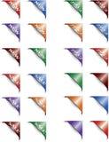 颜色纸张集合标签 免版税库存照片