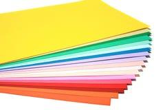 颜色纸张 免版税库存图片
