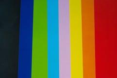 颜色纸张 库存图片