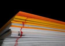 颜色纸页 库存照片