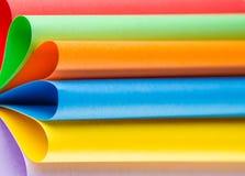 颜色纸,抽象背景五颜六色的板料  图库摄影