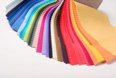 颜色织品范例 免版税库存照片