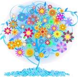 颜色结构树 免版税库存图片