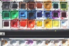 颜色绘水 免版税库存照片