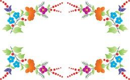 颜色花卉框架 免版税库存图片