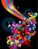 颜色花向量 免版税库存图片