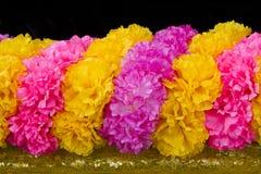 颜色花塑料 免版税库存图片