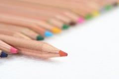 颜色范围铅笔 库存图片