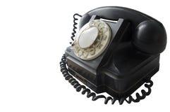黑颜色葡萄酒电话机  库存图片