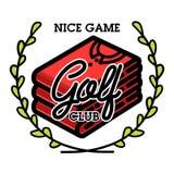 颜色葡萄酒高尔夫俱乐部象征 免版税库存图片