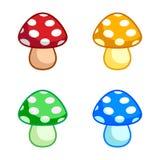 颜色蘑菇 库存照片