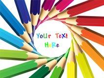 颜色蜡笔例证铅笔向量 图库摄影