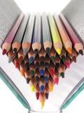 颜色蜡笔 免版税图库摄影